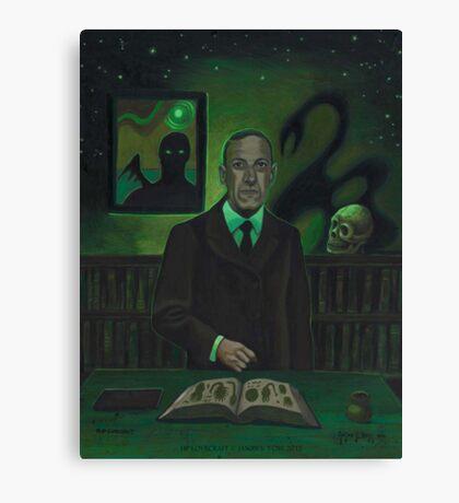 HP Lovecraft Portrait Canvas Print