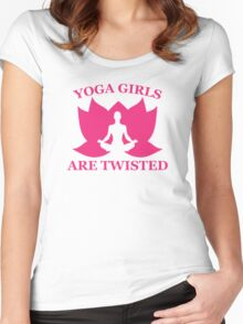 Yoga Girls Are Twisted Women's Fitted Scoop T-Shirt