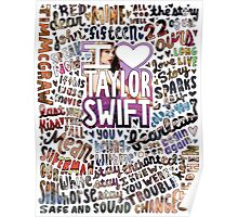 Taylor Swift Song Photo Collage Poster