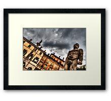 Hercules' statue Framed Print