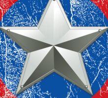 Cap America Shield with star Sticker