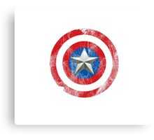 Cap America Shield with star Canvas Print