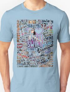Taylor Swift Song Photo Collage T-Shirt