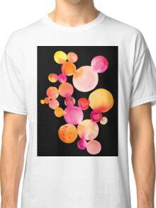 Citrus bubbles on black Classic T-Shirt