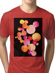 Citrus bubbles on black Tri-blend T-Shirt