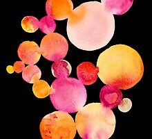 Citrus bubbles on black by Yuliya Shora