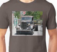 Vintage Truck at Vintage Gas Station Unisex T-Shirt
