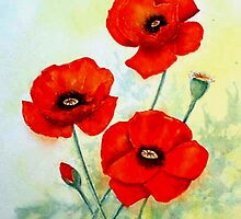 Three poppies by Croftsie