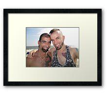 Happy boys Framed Print