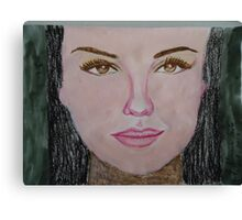 Thalia in acrylic and oil Pastel.... Canvas Print