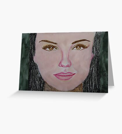 Thalia in acrylic and oil Pastel.... Greeting Card