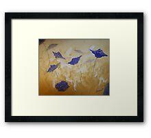 Violet Poppies Framed Print