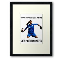 Hope Solo - She's Probably a Keeper Framed Print