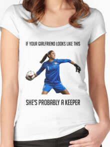 Hope Solo - She's Probably a Keeper Women's Fitted Scoop T-Shirt