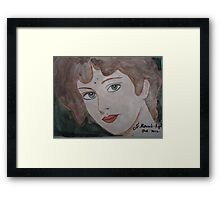 The woman from the market Framed Print