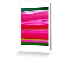 Tulip, abstract Greeting Card