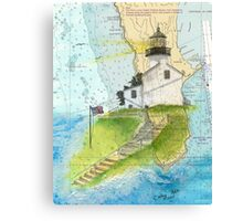 Old Pt Loma Lighthouse CA Chart Cathy Peek Map Canvas Print