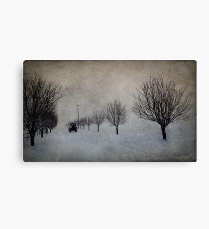Winter's Work Canvas Print