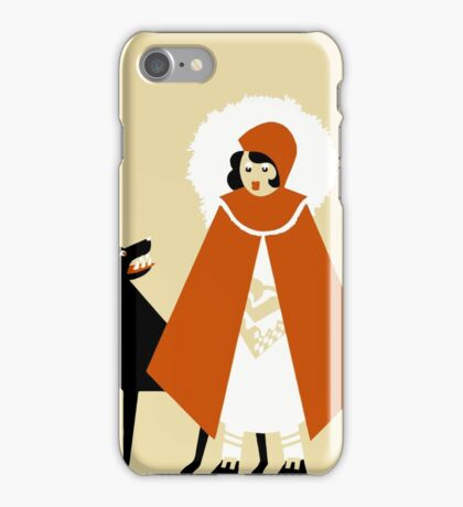 Naive Art Deco Little Red Riding Hood iPhone Case/Skin