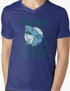 Shark feed is pretty Mens V-Neck T-Shirt