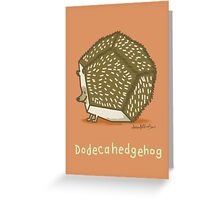 Dodecahedgehog Greeting Card