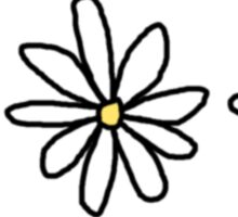 Simple Festival Daisies Sticker