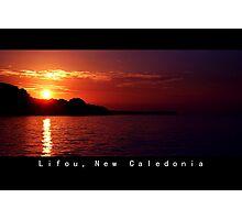 Lifou island at Twilight Photographic Print