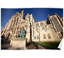 York Minster wide angle photo Poster