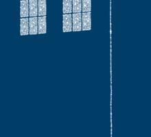 Dotty Tardis - Blue Sticker Sticker