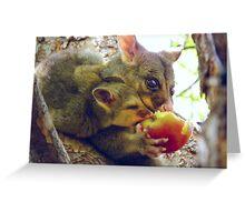 Sharing, Caring Possums Greeting Card