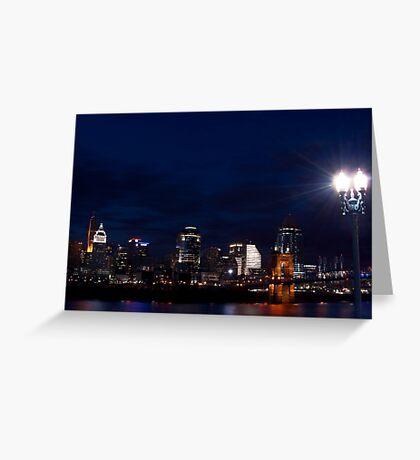 Cincinnati Skyline 3 Greeting Card