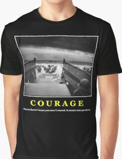 Courage -- D Day Poster Graphic T-Shirt