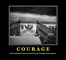 Courage -- D Day Poster by warishellstore