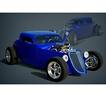 1934 Ford Custom Coupe Hot Rod Photographic Print