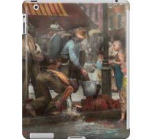 City - NY - Drinking water from a street pump 1910 iPad Case/Skin