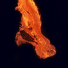 iPad Case.  Lava Flow at Kalapana 3. by Alex Preiss
