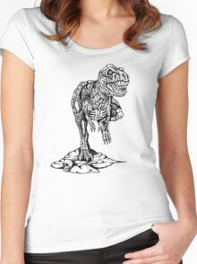 Zombie T-Rex Classic B/W Women's Fitted Scoop T-Shirt
