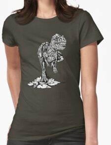 Zombie T-Rex Classic B/W Womens Fitted T-Shirt