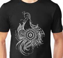 Peacock Flow Mandala - Black Unisex T-Shirt
