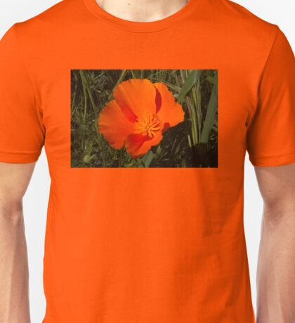 Orange California Poppy Unisex T-Shirt
