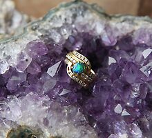 Black Opal in Amethyst by aussiebushstick