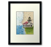 Pt Cabrillo Lighthouse CA Chart Cathy Peek Framed Print