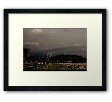 Mountain Lightning Framed Print