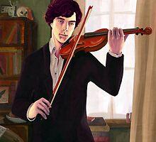 Sherlock: Violin by arisupaints