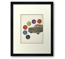 Driving Around in Circles Framed Print