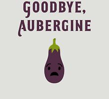 Goodbye, Aubergine Womens Fitted T-Shirt