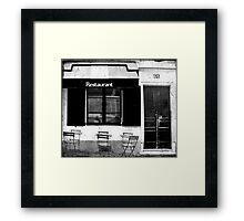 Parisian Restaurant Framed Print