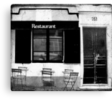 Parisian Restaurant Canvas Print