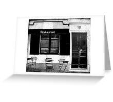 Parisian Restaurant Greeting Card