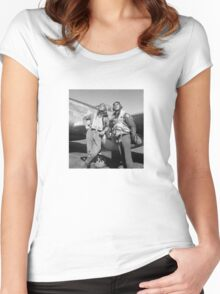 Tuskegee Airmen -- World War Two Women's Fitted Scoop T-Shirt